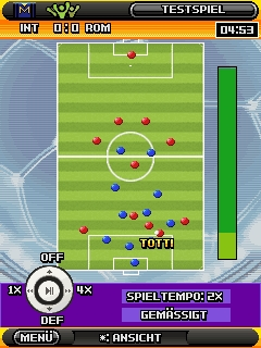 Screenshot: Real Football: Manager Edition 2009