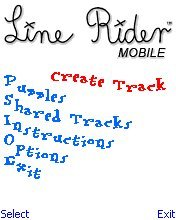 Screenshot: Line Rider Mobile