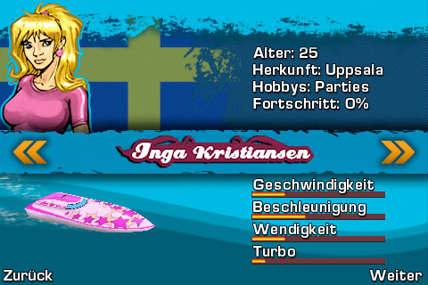 Screenshot: Powerboat Challenge (iPhone)